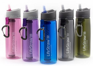 New LifeStraw 2-Stage Filtering Water Bottle - On the go Filtration
