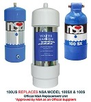 100US Under Sink  KDF/GAC Water Filter NSA Replacement  (NSA Model 100s, 100sx) 5 Stage Filtration